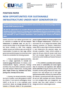 Position Paper - New opportunities for sustainable construction under NextGenerationEU