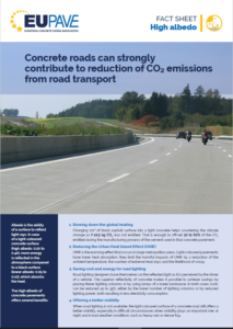 "How ""high albedo"" contributes to reduction of carbon emissions from road transport"